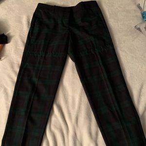 Loft Plaid Marisa Ankle Pants Size 2